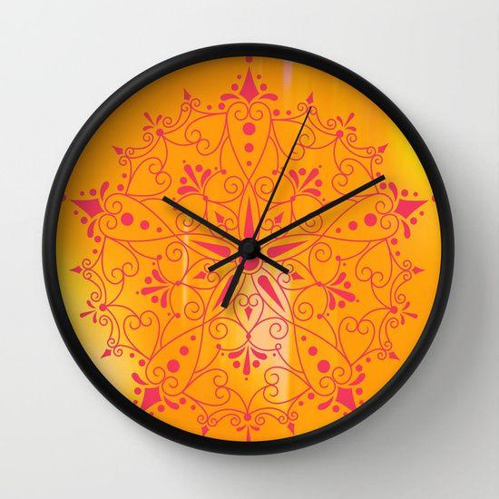 Spirit Wall #Clock by Helle Gade - $30.00 #Soceity6 #art