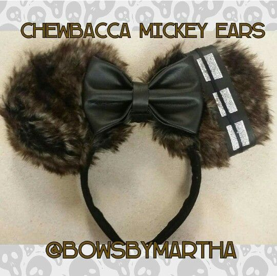 Get your Chewbacca Mickey Ears @bowsbymartha we also have a Etzy store  #StarWars #Chewbacca#Disney
