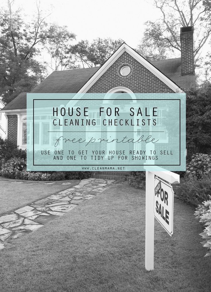 Free Printable : House for Sale Cleaning Checklists