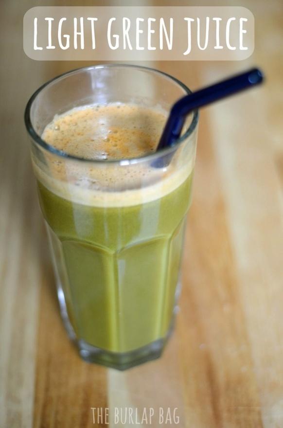 light green juice: apples, carrots, spinach, kale, orange