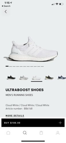 98d2b0b23 Details about New Adidas Ultra Boost 4.0 Triple White BB6168 For ...