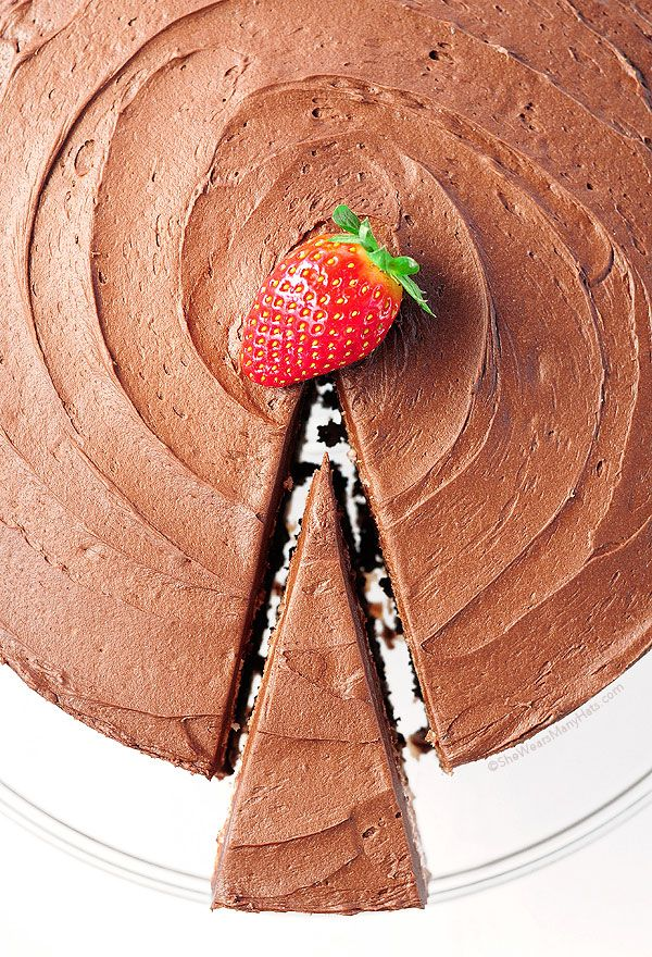 Dark Chocolate Covered Strawberry Cake from @Amy Lyons Johnson / She Wears Many Hats