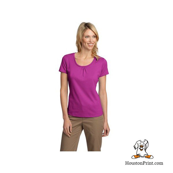 Port Authority® Ladies Silk Touch Interlock Scoop Neck Shirt. L522 Learn more at: http://embroidery-houston.adaprint.com/index.php?id_product=922&controller=product