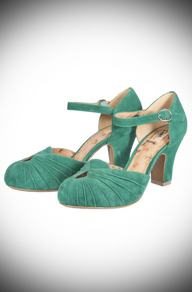 c3c4e8998f0 The Miss L Fire Green Amber shoes are beautiful vintage inspired ...
