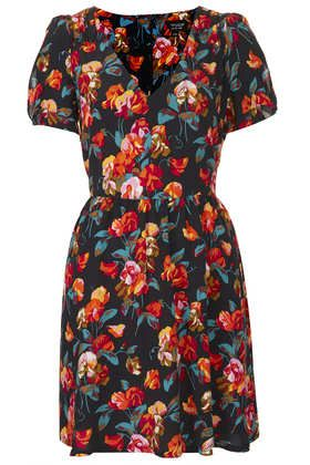 Printed Tea Dress - Dresses  - Clothing