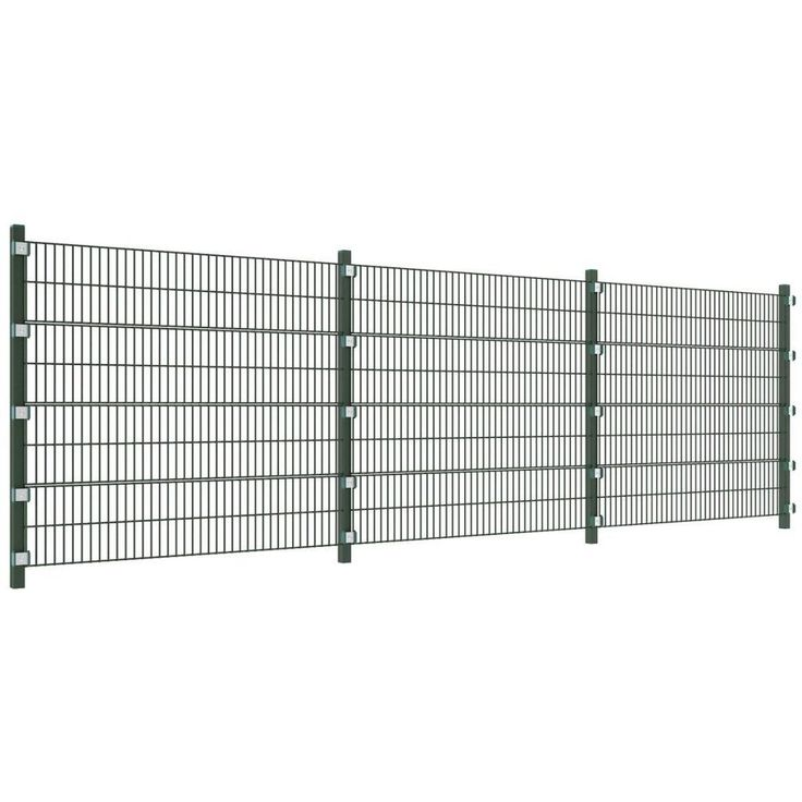 iron fence panels garden patio fencing railing 4 posts 1600mm high 6000mm long