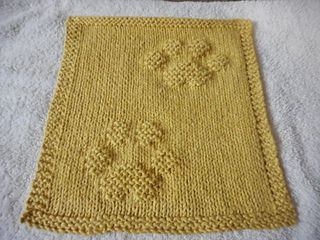 First the details, then the story behind this dishcloth!