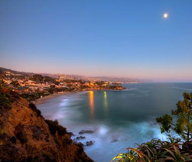 Sunset over Laguna Beach, CA