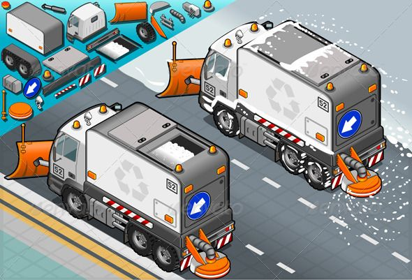 Isometric Snow Plow Truck in Rear View  #GraphicRiver         Detailed illustration of a isometric Snow Plow truck in rear view This illustration is saved in EPS10 with color space in RGB. Where possible, the objects have been grouped to make it easily editable or hidden. This image has transparent forms are under the Vehicle.     Created: 29June13 GraphicsFilesIncluded: JPGImage #VectorEPS #AIIllustrator Layered: Yes MinimumAdobeCSVersion: CS Tags: cleaner #cleaning #cold #container #frozen…