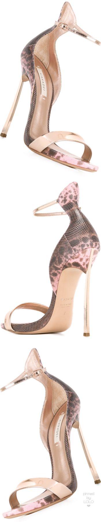 CASADEI  leopard print sandals