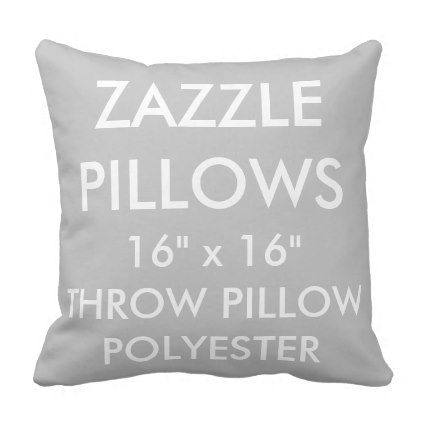 Zazzle Custom SILVER Polyester Throw Pillow Blank - template gifts custom diy customize