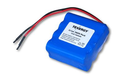 Image of Tenergy Li-Ion 18650 14.8V 4400mAh PCB Protected Rechargeable Battery Pack w/ Bare Leads