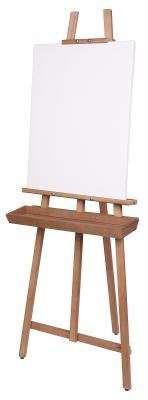 Wooden easel. I paint best standing up or outside where I am alone and can concentrate.