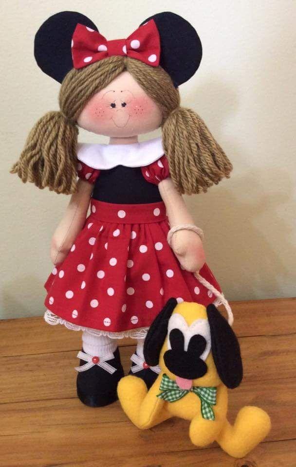Suficiente 140 best Minnie-Mickey images on Pinterest | Fabric dolls, Felt  GO06