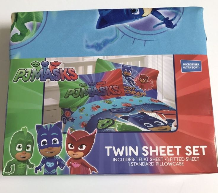 New PJ Masks  Twin Sheet Set Shout Hooray Microfiber Disney Jr Kids Bedding #FrancoMfg