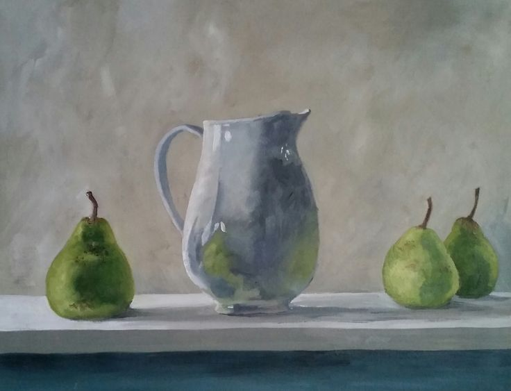 """Still life with pears"" by Damon Lucas. Paintings for Sale. Bluethumb - Online Art Gallery"