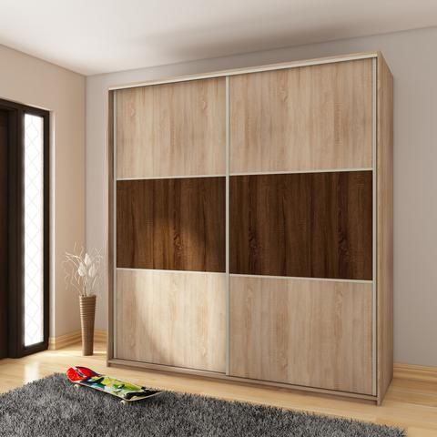 Modern Wardrobe ''Rico'' 2 slide door C 160cm x 216cm x 65cm                                                                                                                                                     More