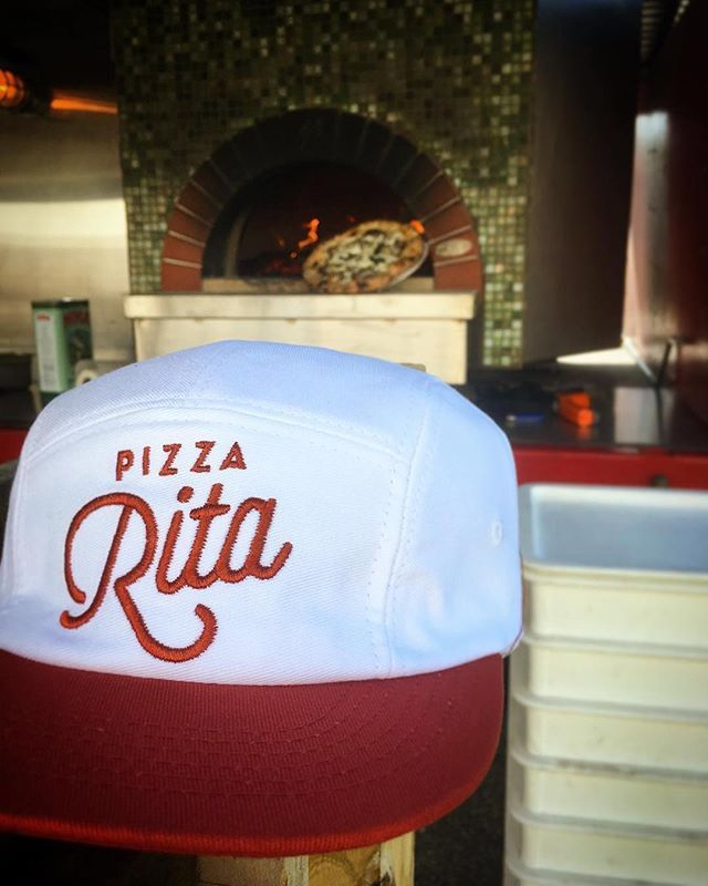 Hats, beer, and a pizza! What more do you really need? Custom 5 Panel Campers for Pizza Rita (@pizza.rita) -/- cotton twill construction, front 2D embroidery, inside sweatband label #delusionmfg #headwear #hats #hat #manufacturing #streetwear #hypebeast #floppyhats
