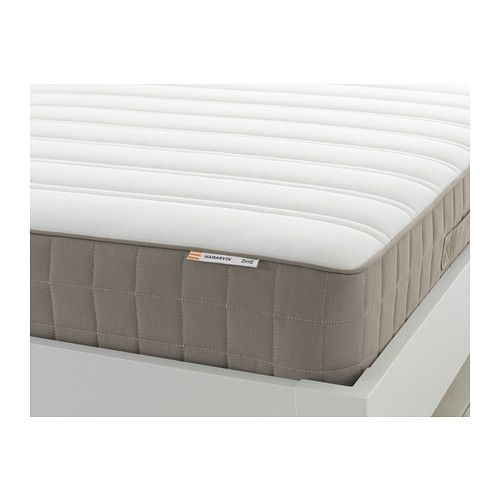 IKEA - HAMARVIK, Sprung mattress, firm/dark beige, 180x200 cm, , Bonnell springs provide all-over support to ensure a restful night's sleep.A generous layer of soft fillings adds support and comfort.Stretch fabric on topside of the mattress moves with you to maximise comfort.Designed to be used on one side only – no need to turn.Easy to bring home since the mattress is roll packed.25 year guarantee. Read about the terms in the guarantee brochure.