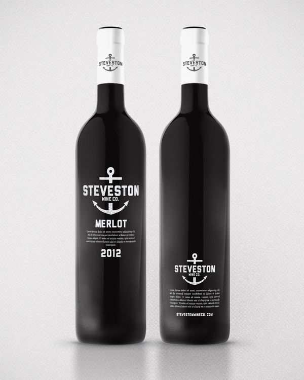 Steveston Wine Co.  by Kristian HayAnchors Wine, Wine Labels, Nautical Wine, Bottle Packaging, Packaging Design, Kristian Hay, Wine Bottle, Steveston Wine, Bottle Design