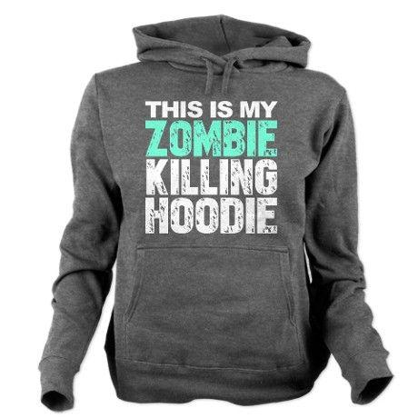 This Is My Zombie Killing Hoodie Hooded Sweatshirt #love #zombies #lol