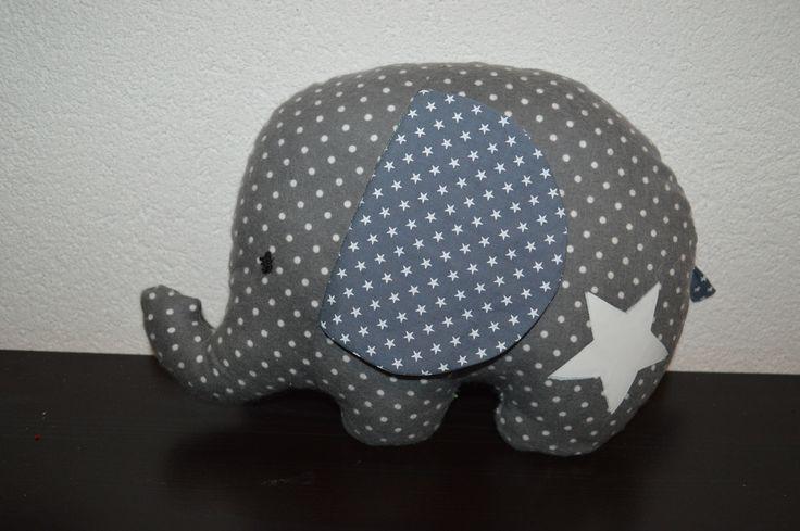 Doudou éléphant fluorescent