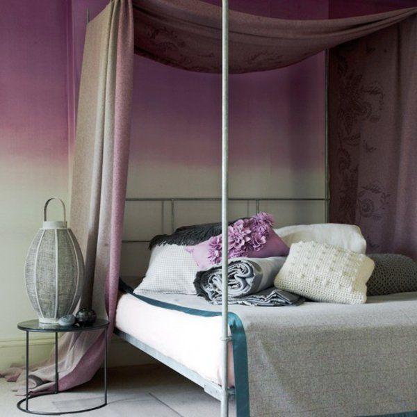 Elegant Feminine Einrichtung Himmelbett Schlafzimmer