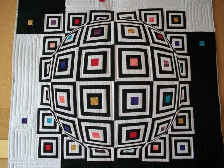 Optical Illusion Quilt Work In Progress By Doris Pontigo