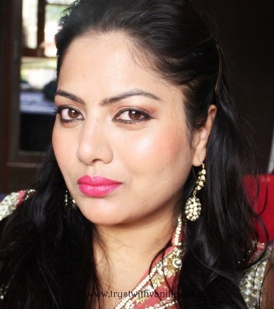 Indian Wedding Guest Makeup Look,trystwithvanillagirl