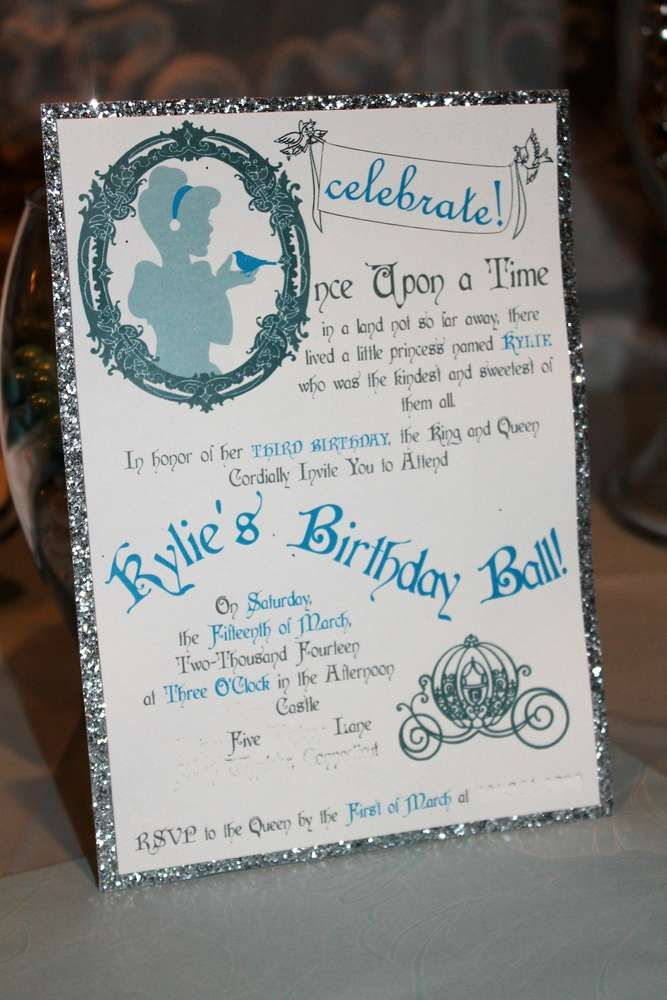 Cinderella birthday party! See more party planning ideas at CatchMyParty.com!