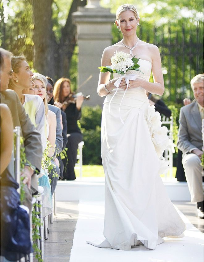 Lily in Vera Wang wedding dress. So beautiful and happy