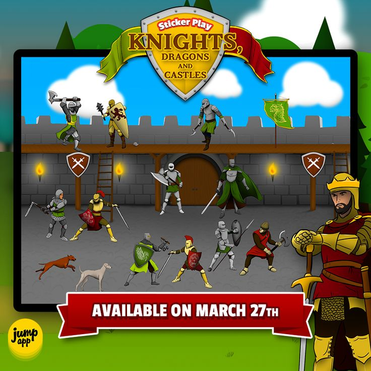 """Sticker Play: Knights, Dragons and Castles"" #iPad #iPhone #kidsapp will be released in 2 days!"
