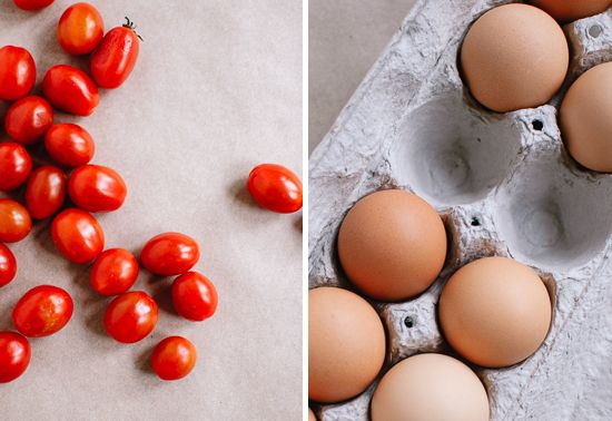 cherry tomatoes and eggs
