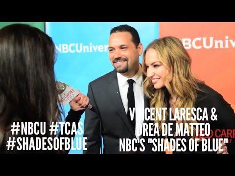Vincent Laresca & Drea de Matteo #ShadesOfBlue at NBCUniversal's Winter 2016 Press TCA Tour