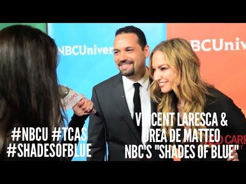 Vincent Laresca & Drea de Matteo #ShadesOfBlue at NBCUniversal's Winter 2016 Press TCA Tour