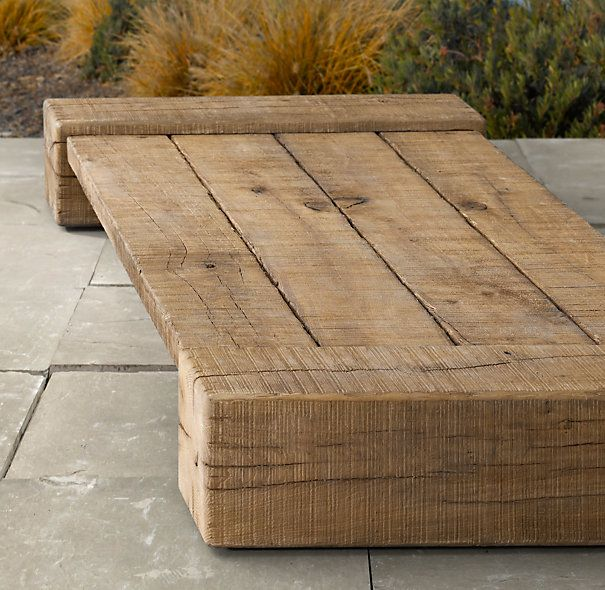 "Restoration Hardware - Aspen Low Coffee Table Overall: 58""W x 31½""D x 8""H Weight: 208 lbs. Overall: 75""W x 24""D x 7½""H Weight: 299 lbs"