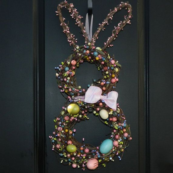 Easter Wreath  Bunny Wreath  Spring Wreath by EverBloomingOriginal, $79.00