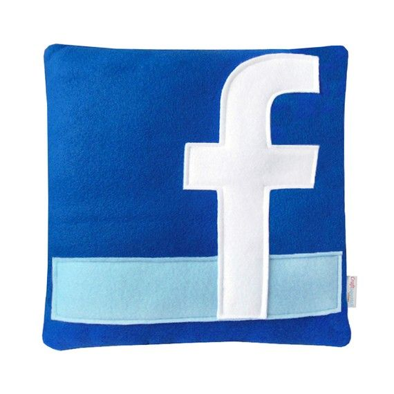 [Facebook Icon Pillow] #office #products $29