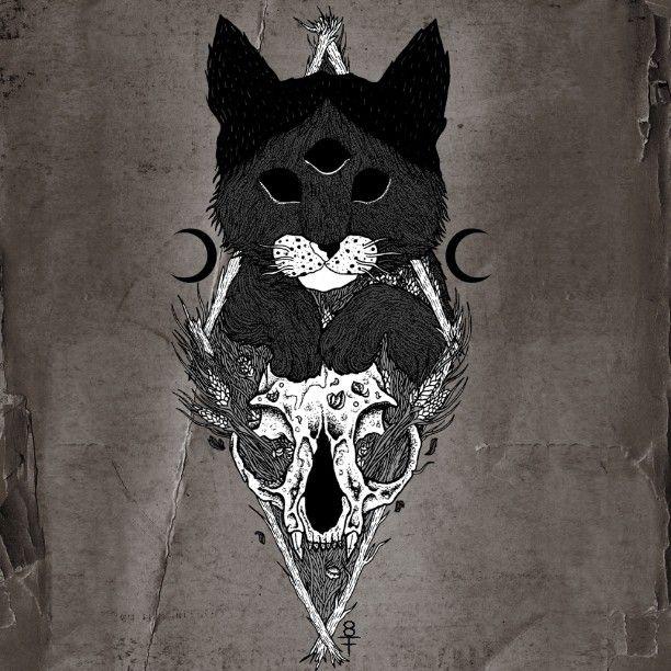 #cat #kitten #catskull #darkart #illustration #shapefromhell #occultcat #occult #drawing #art #blackmetal #occultart #spiritual