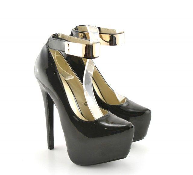 Pantofi cu platforma Andora Negri - ->>>