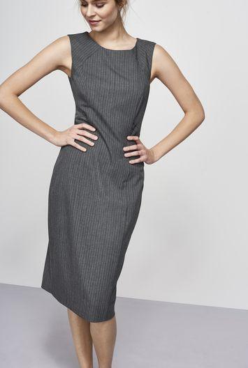Grey Pinstripe Suit Dress