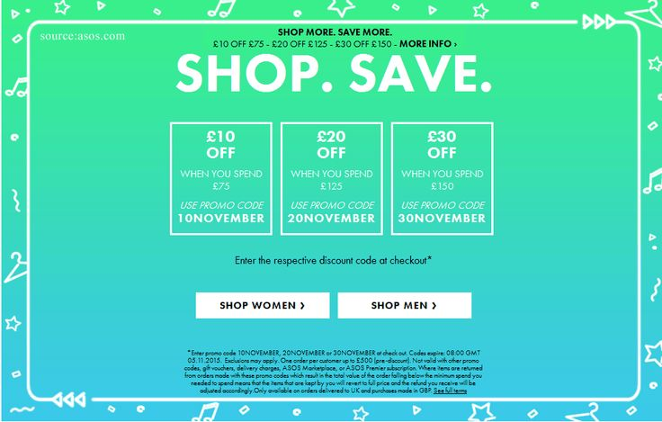 Valid on orders delivered to Belarus, Republic of Ireland, Kazakhstan, Russia, United Kingdom. Expired on 21 August LASTHURRAH – - Celebrate Labour Day in the USA and Canada with 15% discount code at ASOS. This code works on everything including marked down items. Expires Sep 6, .