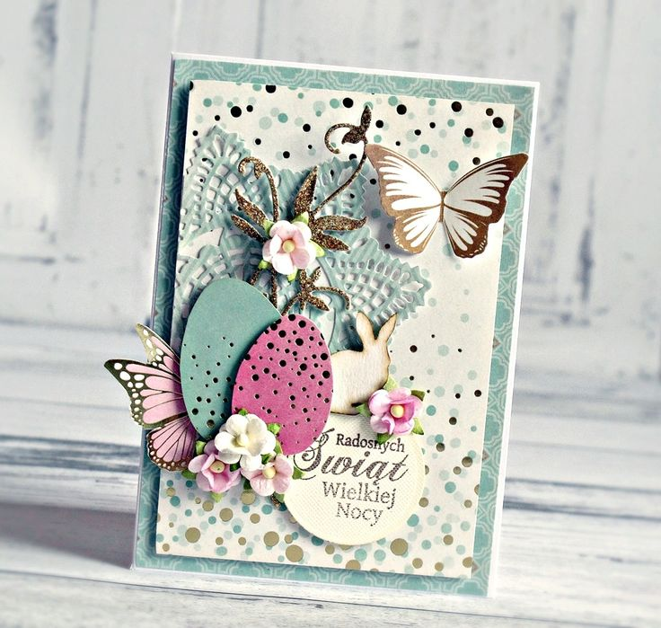 """""""Easter"""" Catd 2 by Anna Zaprzelska for Kaisercraft using 'All that Glitters' collection ~ Cards 1.."""