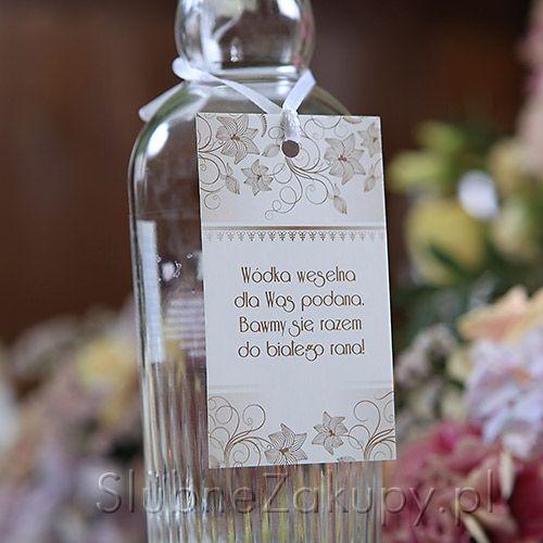 ZAWIESZKI na wódkę Kolekcja Vintage 20szt #slub #wesele #sklepslubny #slubnezakupy #dekoracje
