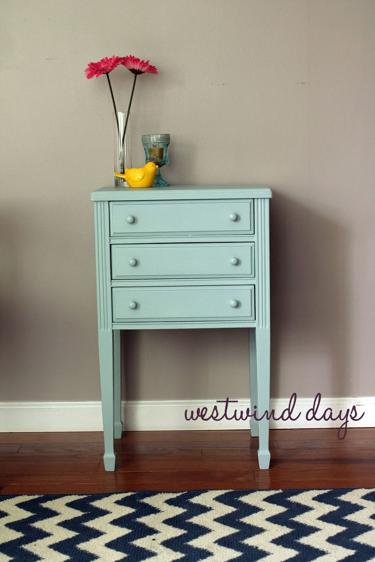 Superior Chalk Paint End Table Makeover   Americana Decor Chalky Finish Paint From Home  Depot.