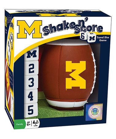 Loving this Michigan Wolverines Shake 'n' Score Dice Game on #zulily! #zulilyfinds