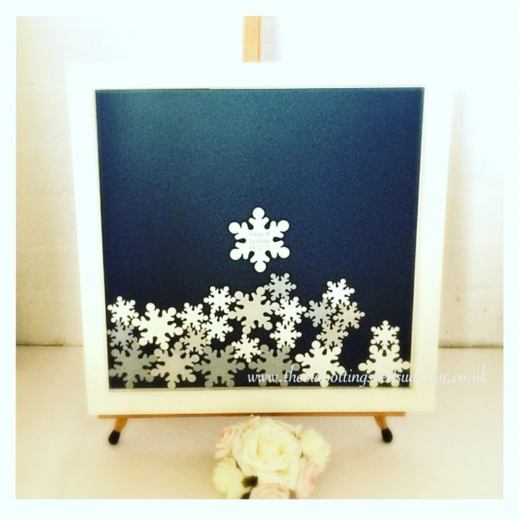 Winter wedding inspired drop top guest book. A fully bespoke wedding guestbook direct from www.theoldpottingshedsudbury.co.uk