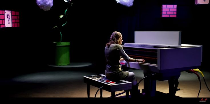 Watch Sonya Belousova play Mario Bros. themes on a Nintendo piano