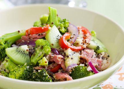Quinoa är en naturligt glutenfri ört med härligt tugg och lågt GI