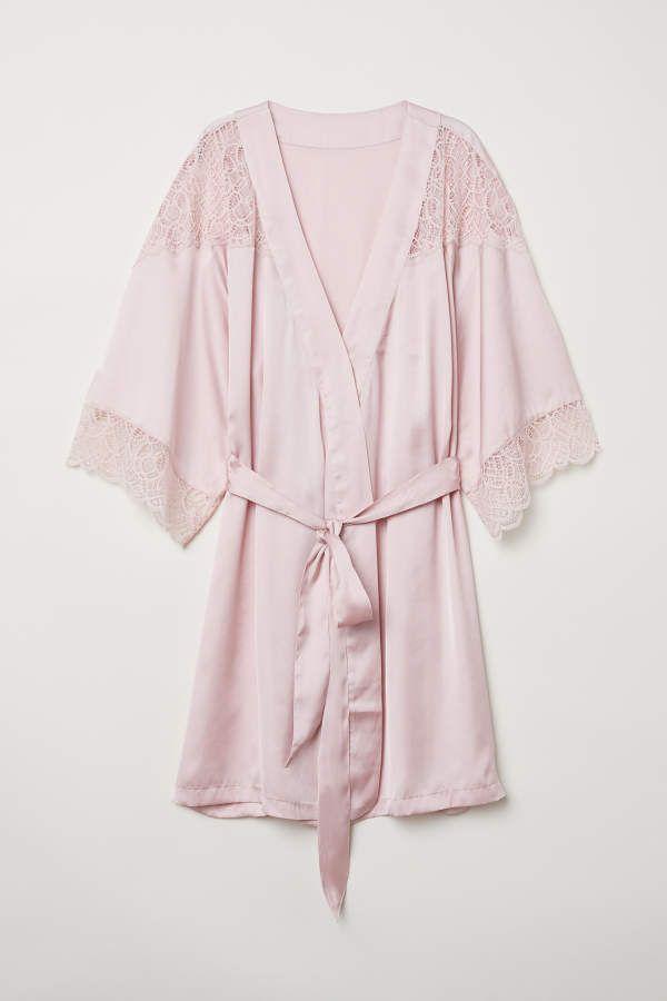 aafd3879d6dcc H M H   M - Satin Kimono - Light pink - Women